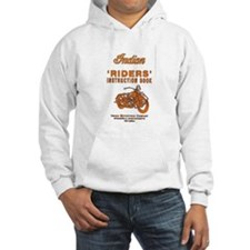 Riders - white hooded sweatshirt