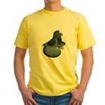 English Trumpeter Blue Check Yellow T-Shirt