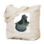 English Trumpeter Blue Check Tote Bag