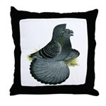 English Trumpeter Blue Check Throw Pillow
