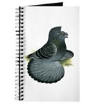 English Trumpeter Blue Check Journal