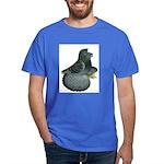 English Trumpeter Blue Check Dark T-Shirt