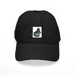 English Trumpeter Blue Check Black Cap