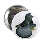 """English Trumpeter Blue Check 2.25"""" Button (10"""