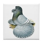 English Trumpeter Opal Tile Coaster