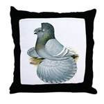 English Trumpeter Opal Throw Pillow