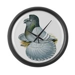 English Trumpeter Opal Large Wall Clock