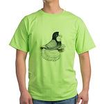 English Trumpeter Opal Bald Green T-Shirt