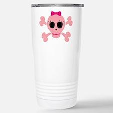 Funny Pink Skull Travel Mug