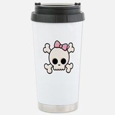 Cute Skull Girl Stainless Steel Travel Mug