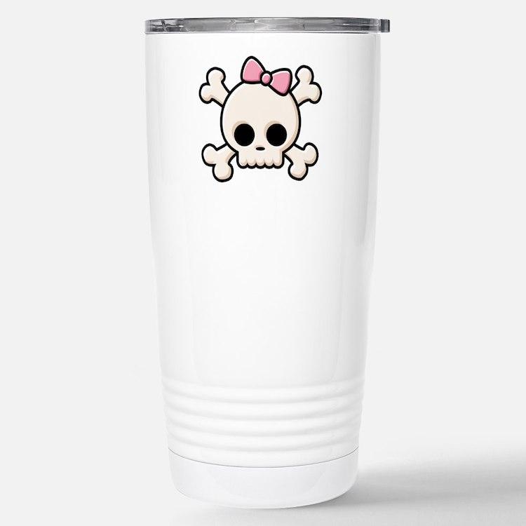 Cute Skull Girl Stainless Steel Travel Mug
