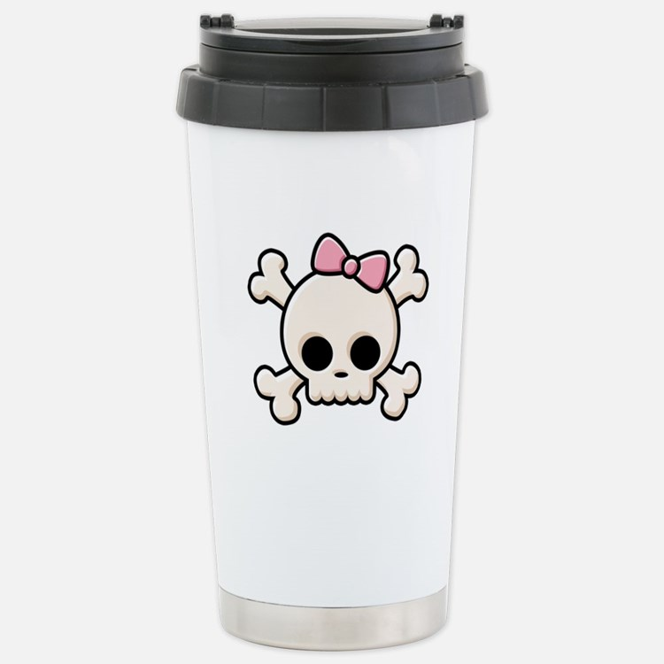 Cute Skull Girl Travel Mug