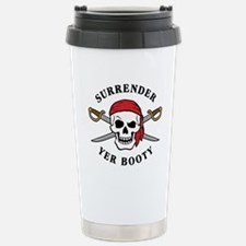 Surrender Yer Booty Stainless Steel Travel Mug
