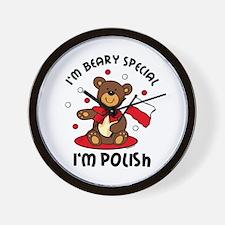 Beary Special Polish Wall Clock