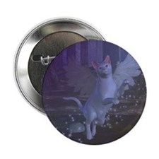 "Winged Fantasy Cat 2.25"" Button"