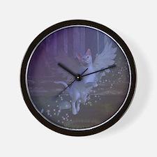 Winged Fantasy Cat Wall Clock