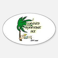 I Survived Hurricane Ike Oval Decal