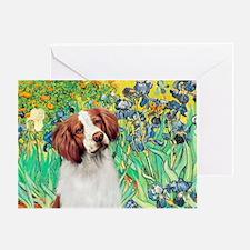Irises/Brittany Greeting Card