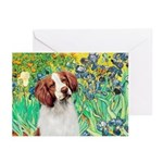 Irises/Brittany Greeting Cards (Pk of 20)