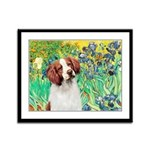Irises/Brittany Framed Panel Print