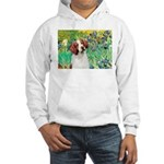 Irises/Brittany Hooded Sweatshirt