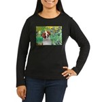 Irises/Brittany Women's Long Sleeve Dark T-Shirt