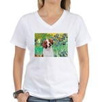 Irises/Brittany Women's V-Neck T-Shirt