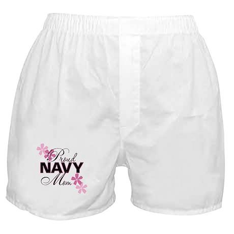 Proud Navy Mom Boxer Shorts