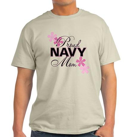 Proud Navy Mom Light T-Shirt