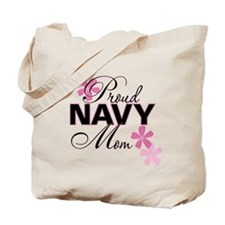 Proud Navy Mom Tote Bag