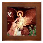 Angel/Brittany Spaniel Framed Tile
