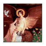 Angel/Brittany Spaniel Tile Coaster