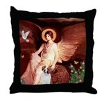 Angel/Brittany Spaniel Throw Pillow