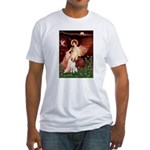 Angel/Brittany Spaniel Fitted T-Shirt