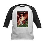 Angel/Brittany Spaniel Kids Baseball Jersey