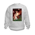 Angel/Brittany Spaniel Kids Sweatshirt
