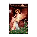 Angel/Brittany Spaniel Sticker (Rectangle)