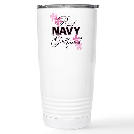 Proud Navy Girlfriend Stainless Steel Travel Mug