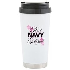 Proud Navy Girlfriend Travel Mug