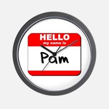 Hello my name is Pam Wall Clock