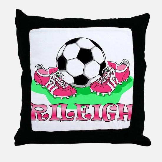 Rileigh Soccer Throw Pillow