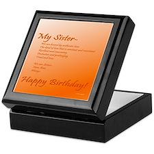 My Sister Birthday Keepsake Box