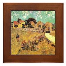 Van Gogh Ceramic Art Framed Tile Farmhouse in Prov