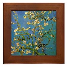 Van Gogh Ceramic Art Framed Tile Blossoming Almond