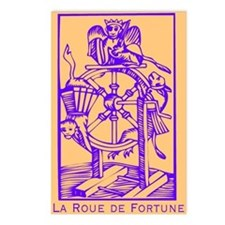 Fortune Wheel, Tarot Postcards (Package of 8)