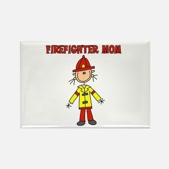 Firefighter Mom Rectangle Magnet