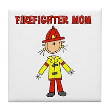 Firefighter Mom Tile Coaster