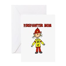 Firefighter Mom Greeting Card