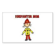 Firefighter Mom Rectangle Decal