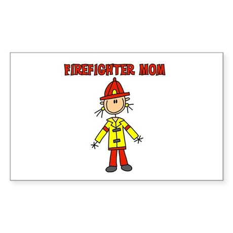 Firefighter Mom Rectangle Sticker